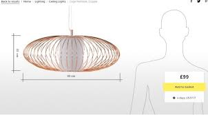 new made com cage ceiling light pendant chandelier rose gold copper east london