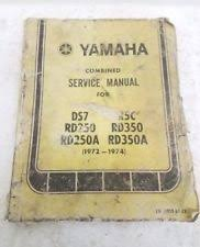 vtg yamaha motorcycle service manual 1972 74for models ds7 rd250 a