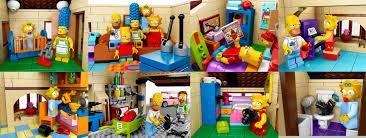 Lego Full House Full List Of Simpsons Lego Sets Plus Video Of Simpsons House Set
