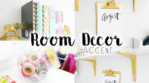 diy room decor organization gold accent youtube