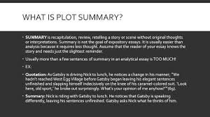 tips for writing literary analysis plot summary vs plot what is plot summary