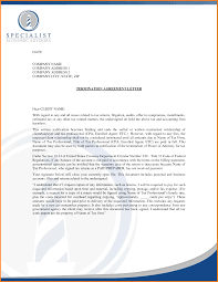 Sample Of Termination Letter Statement Of Account Template Free