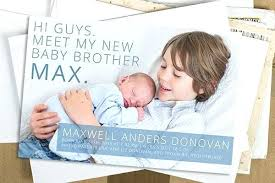 Sibling Birth Announcement Baby Brother Birth Announcement Birth Announcement Sibling Baby