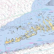 Florida Key West Lower Keys Close Up Nautical Chart Decor