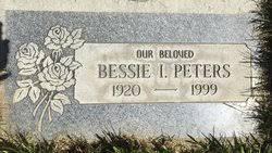 Bessie Irene Mix Peters (1920-1999) - Find A Grave Memorial