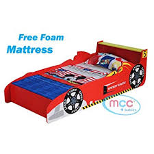 Kids bed Loft Mcc Cars Speed Junior Toddler Kids Bed With Luxury Foam Mattress Made In England Amazon Uk Mcc Cars Speed Junior Toddler Kids Bed With Luxury Foam Mattress