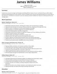 Resume Template For Restaurant Manager Questions To Ask At Realty Executives Mi Invoice And