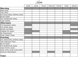 Make A Chore Chart Template Printable Chore Chart Template Ready To Take Chores Online