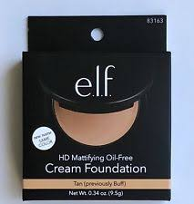 e l f hd mattifying oil free cream foundation buff tan normal oily skin