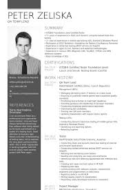 team leader cv examples team lead resume samples visualcv resume samples database