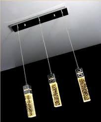 magnificent bubble pendant light modern 3 lights bubble crystal column pendant lamp light lighting