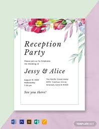 Wedding Reception Templates Free Free Floral Wedding Reception Program Template Word Psd