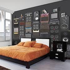 London Wallpaper Bedroom Original Music Speaker Stack Self Adhesive Wallpaper Music