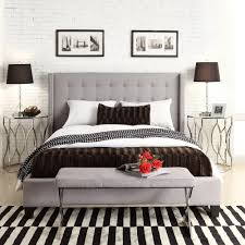 INSPIRE Q Marion Grey Linen Nailhead Wingback Upholstered King-sized Bed by  iNSPIRE Q. Masculine BedroomsUpholstered ...