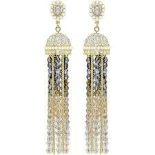 swarovskimillennium gold plated chandelier dropper earrings 5416882