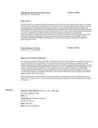 Resume Objective Samples Police Officer Resume Templates Sample Law Enforcement Resumes Law 100