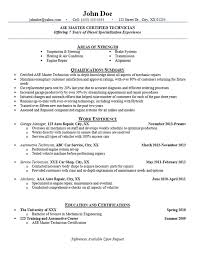 Vehicle Repair Sample Resume