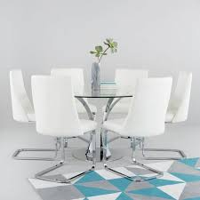 alice 130 cm round dining table 6 chairs