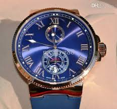 luxury rose gold watches fashion swiss brand men mechanical un luxury rose gold watches fashion swiss brand men mechanical un blue dial rubber watch strap auto