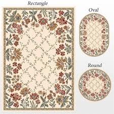 garden trellis rectangle rug cream