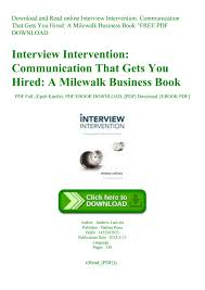 Download And Read Online Interview Intervention Communication That