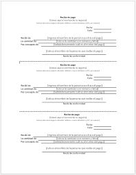 Formato De Recibos Recibo De Pago Ejemplos Y Formatos Descarga Gratis Milformatos Com