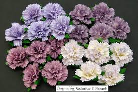 Paper Carnation Flower 20 Mixed Purple Lilac Mulberry Paper Carnation Flowers 112823