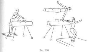 Опорные прыжки Прыжок боком выполняется с небольшого разбега 8 10 м через коня в ширину с ручками и без ручек Одновременно с толчком ногами надо опереться руками о