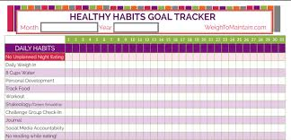 Daily Goal Tracker Find The Best Health And Fitness Templates And Printables On The Web