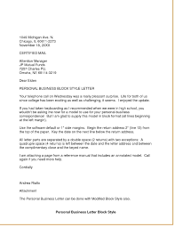 Personal Business Letter Block Style Business Letter Format Styles New Block Style Personal Business