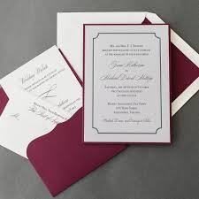 we paired the invitation with smooth white inserts and lined the white envelope with that beautiful wine color