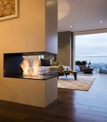 Stylish Bespoke Sided Fireplace In Interior Room Divideralso Wood Bespoke Sided  Fireplace And in Double Sided