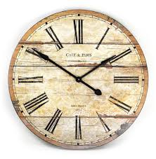 cafe de paris rustic french cottage style old wood wall clock kathy kuo home