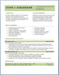 Professional Resume Template Word Classy Professional Resume Objective Samples John J Jobseeker Top