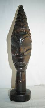 details about vintage hand carved wood african woman head statue 12
