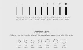 Nose Stud Gauge Size Chart 60 Unfolded Septum Piercing Gauge Chart