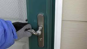 exterior door latch guard. exterior door latch guard