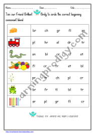 Part of a collection of kindergarten phonics worksheets from k5 learning. Preschool And Kindergarten Consonants Worksheet Blending Worksheet Phonics Worksheet Learningprodigy English English Blending English G1 Subjects