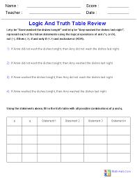 Logic Worksheets | Dynamic Logic Worksheets for Teachers