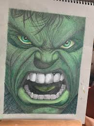 Free the avengers character hulk coloring page to download or print, including many other related the avengers coloring page you may like. Hulk Drawing By My Dad Also His First Colour Drawing O O Drawing