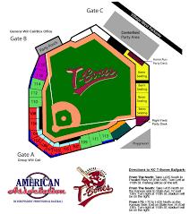 The Official Site Of The Kansas City T Bones Stadium Map