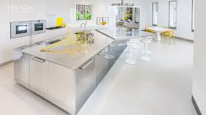Stainless Steel Kitchen Polished Stainless Steel Kitchen In This House With Large