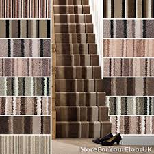 Image is loading Brown-Striped-Carpet-Beige-Stripe-Carpet-Cheap-Carpets-