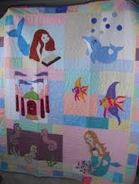 mermaid quilt fabric - Bing Images | mermaids | Pinterest ... & My smaller version of Mermaid Tales quilt for granddaughter. Challenging  but fun Adamdwight.com