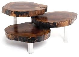 rotsen furniture single slab stainless steel. rotsen furnitureu0027s ingenious alice coffee table uses three slabs of salvaged imbuia wood on a stainless steel base and can perform double duty as or furniture single slab