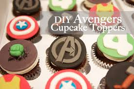 Avengers Birthday Cupcake Toppers Monkeysmiles