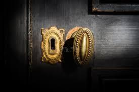 Detail Of Antique Golden Door Handle Knob Stock Image Image of