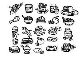 Healthy And Unhealthy Food Colouring Pages Murderthestout