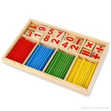 Game With Wooden Sticks Colorful Wooden Math Game Sticks Baby Kids Toy Montessori 22