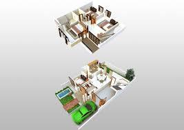 3d floorplan of 2 y house 3d model